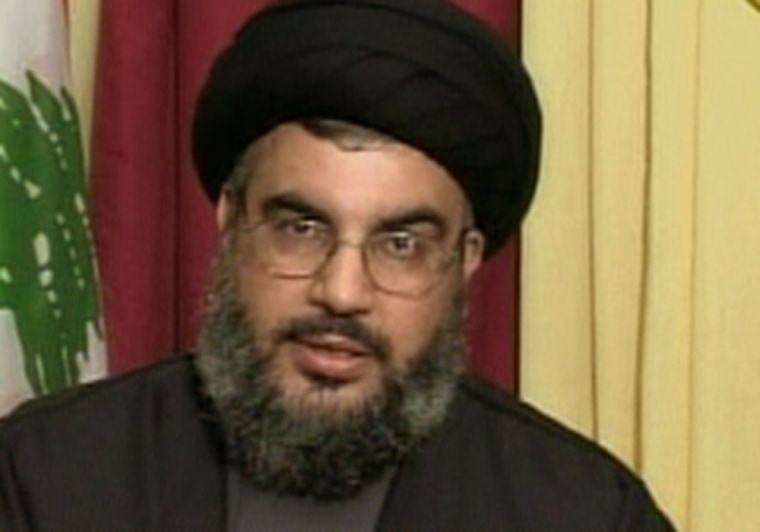 Hezbollah leader Sheik Hassan Nasrallah threatened more attacks on Israel in a televised broadcast Saturday.