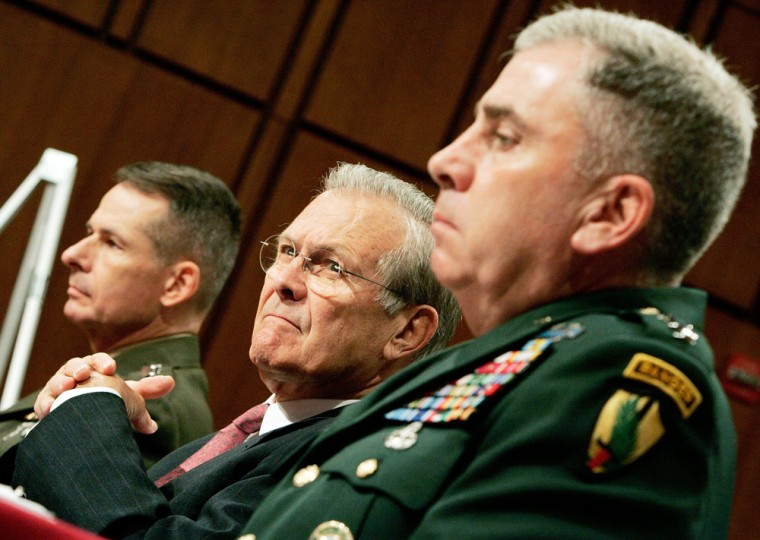Rumsfeld And Pace Brief Senate On Iraq