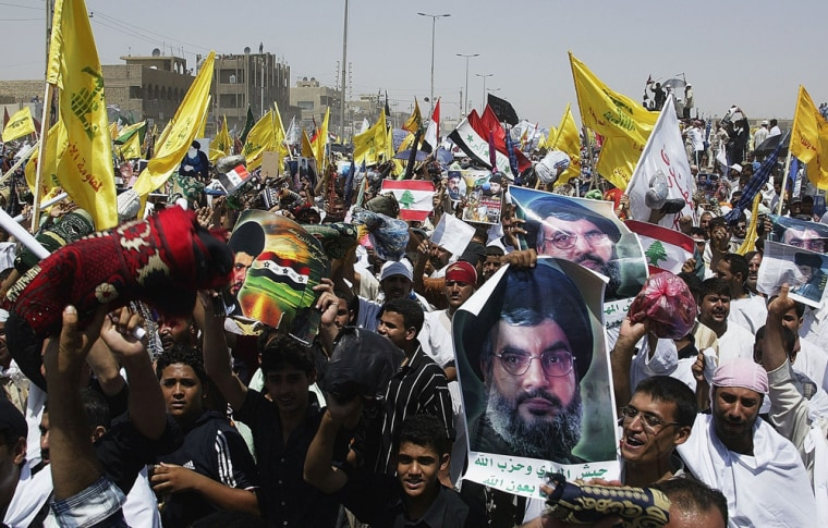 Sadr Supporters Protest Against Israel Offensive in Lebanon