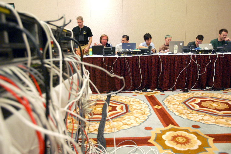 Leaders of organizations such as the U.S. Department of Justice, Microsoft, and Cisco Systems at a training session in Las Vegas. About 6,000 people will attend this week'sBlack Hat and Defcon conferences.