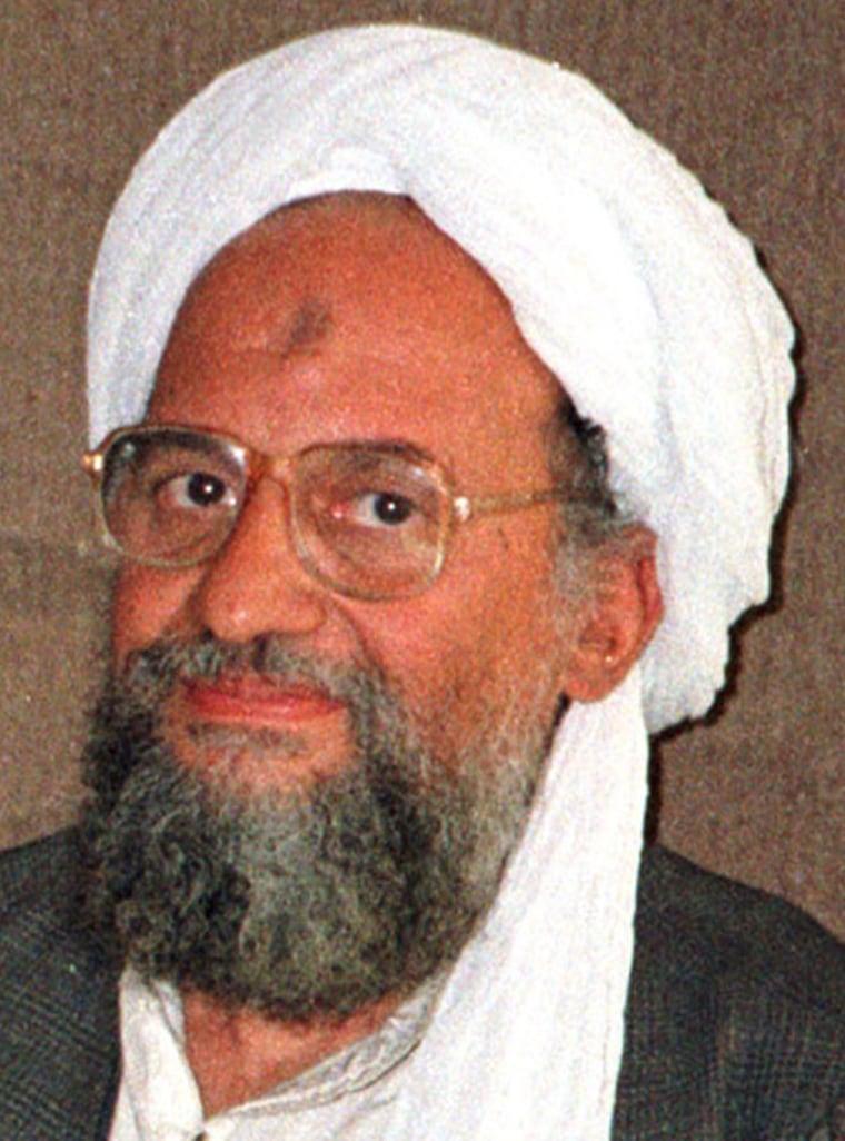 Al Qaeda's top strategist and second-in-command Ayman al-Zawahri is shown in this undated file photo