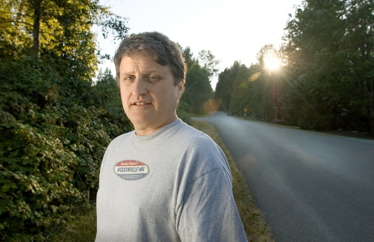 A 4-mile walk in a suburban Seattle neighorhood is just the start of Mike Stuckey's road to recovery.