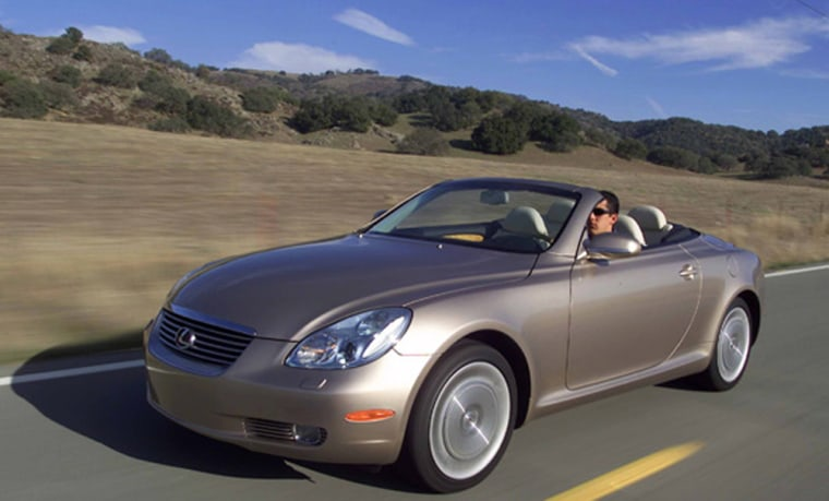 The Lexus SC 430 topped the premium sporty car category in the JD Powers dependability survey.