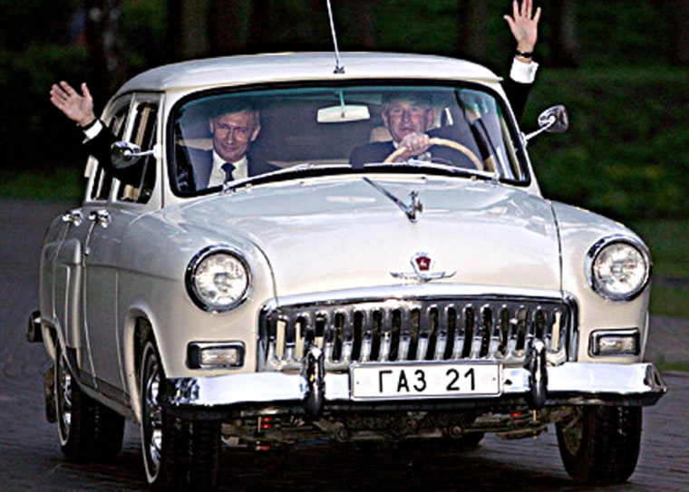 To much fanfare, Russia's President Vladimir Putin let President George W. Bush drive his 1956 Vega last year during a state visit.