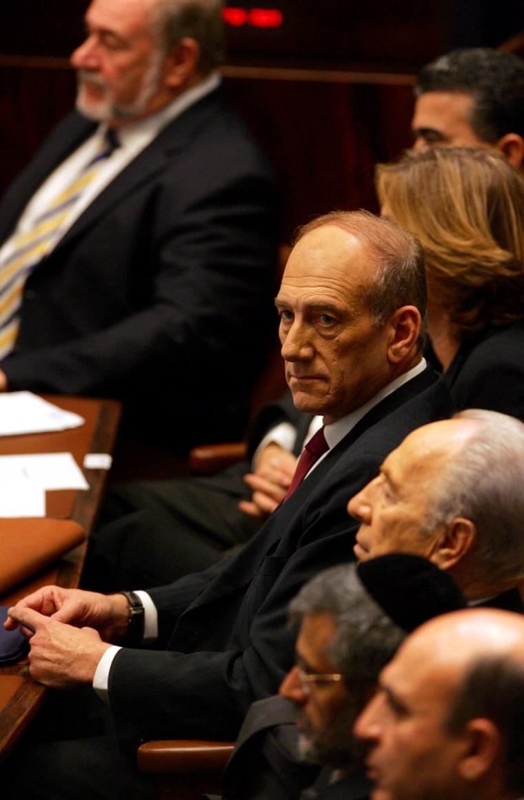 Ehud Olmert Addresses Jerusalem Knesset