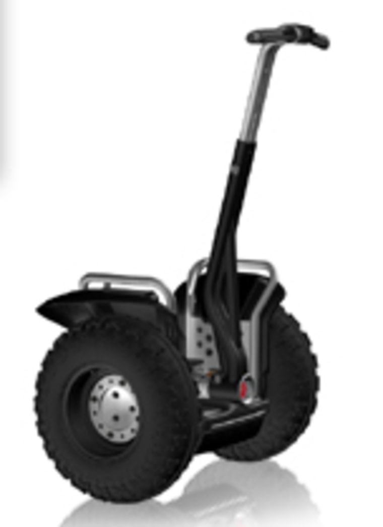The new Segway X2.  You simply lean.