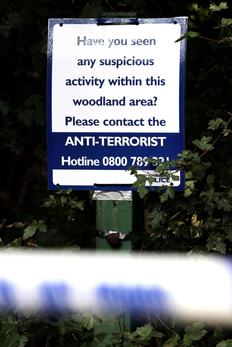 Police at King's Wood in High Wycombe