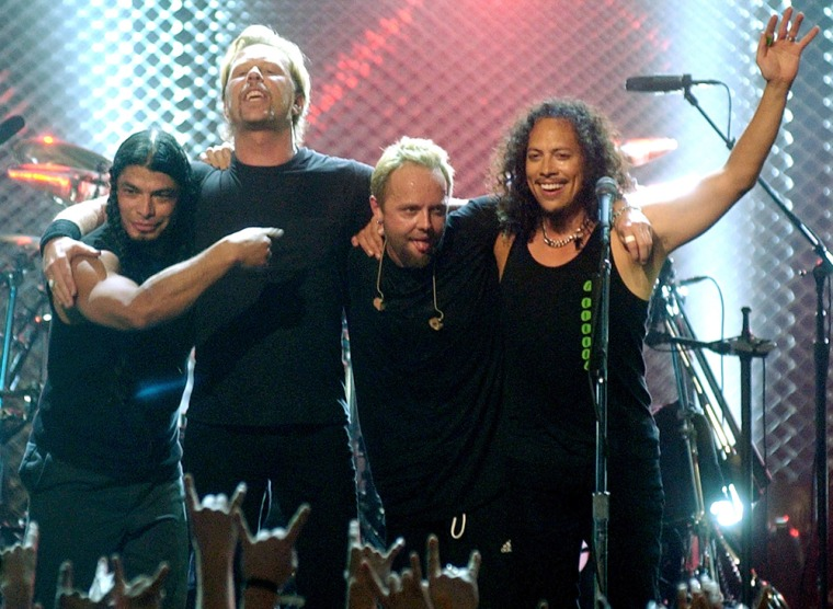 Robert Trujillo, James Hetfield, Lars Ulrich, Kirk Hammett, Metallica