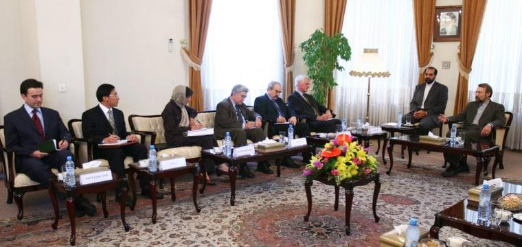 Iran's top nuclear negotiator, Ali Larij