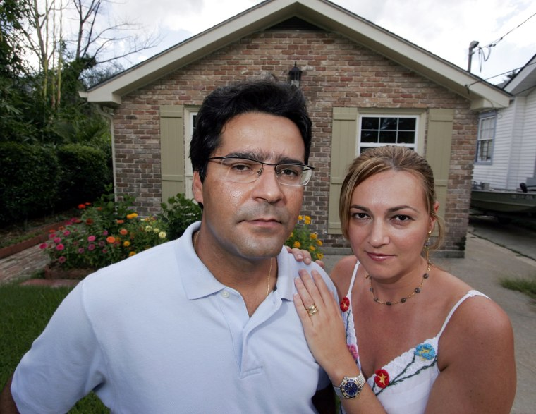 Claudiney Pereira and his wife Adriana Pereirarecently tried to buy this house in New Orleans. But the deal was stopped by the high cost of insurance.
