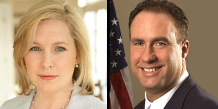 Novice Democratic candidate Kirsten Gillibrand has raised a lot of money in her challenge to GOP incumbent Rep. John Sweeney in New York's 20th Congressional District race.
