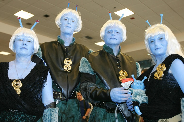 A group of Star Trek fans dressed as And