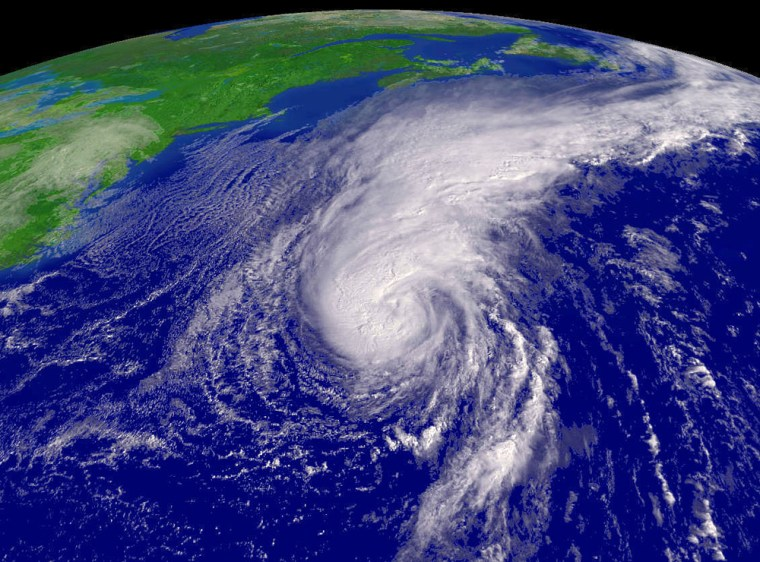 Hurricane Florence is seen in this satellite image on September 11, 2006 at 13:15 Zulu time