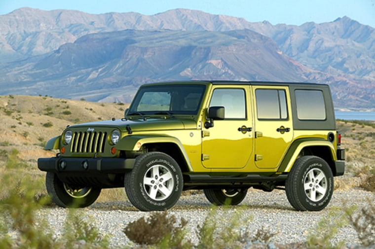 The Jeep Wrangler Unlimited is one of the latest models unveiled for fall 2006.