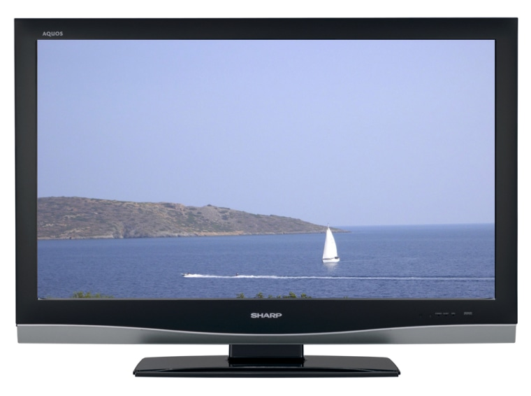 New flat-screen HDTVs, like this new 42-inch Sharp model, are becoming increasingly more affordable.