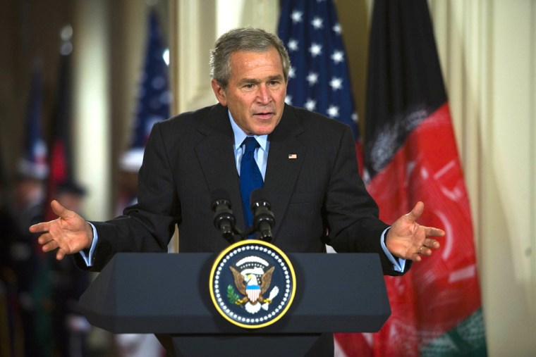 President Bush Holds Joint Press Conference With Afghan President Karzai