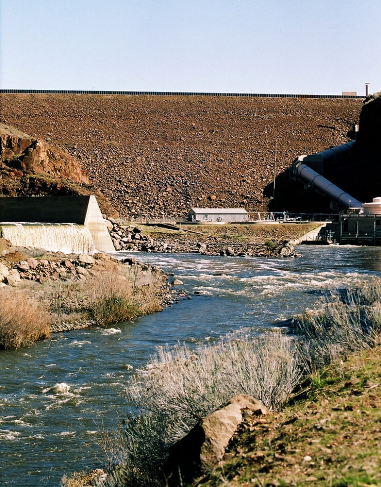 The Iron Gate Dam on the Klamath River outside Hornbrook, Calif., is one of four that would be removed if a new proposal is approved.