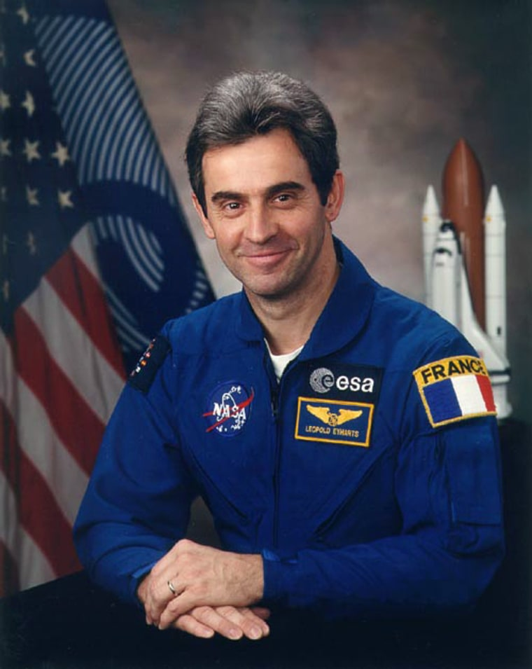 French astronaut Leopold Eyharts would be the second European to serve as a resident member on the International Space Station.