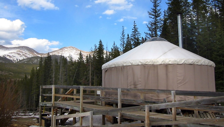 The Dancing Moose yurt commands a view of high peaks at Colorado State Forest outside Walden, Colo. Modeled after nomadic shelters from Central Asia, the yurt is one of six in the forest and a lodging option gaining popularity with outdoor vacationers nationwide.