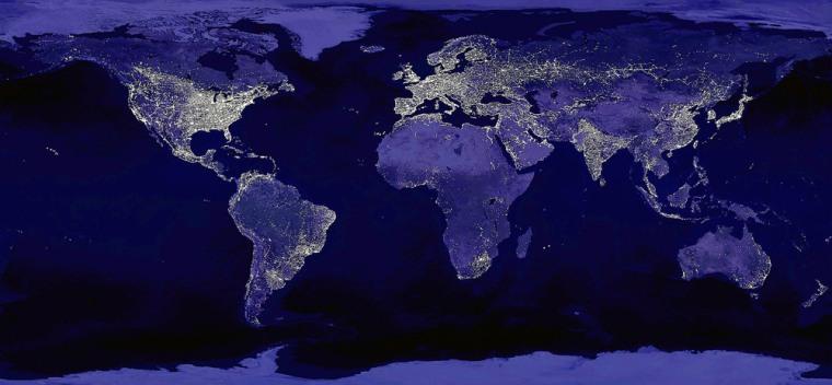 Global City Lights Shown In NASA Image