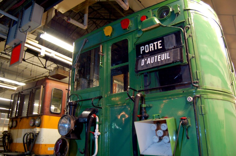 Old Sprague-Thomson trains are seen in the Paris subway network, Oct. 14th. An all-night history tour of the metro is organized a dozen times a year by a group of railway fanatics.