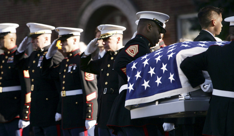 Funeral Held For Marine Killed In Iraq