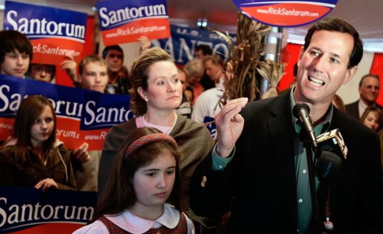 Rick Santorum, Karen Santorum, Sarah Santorum