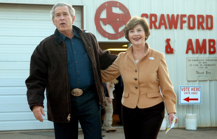 George Bush, Laura Bush