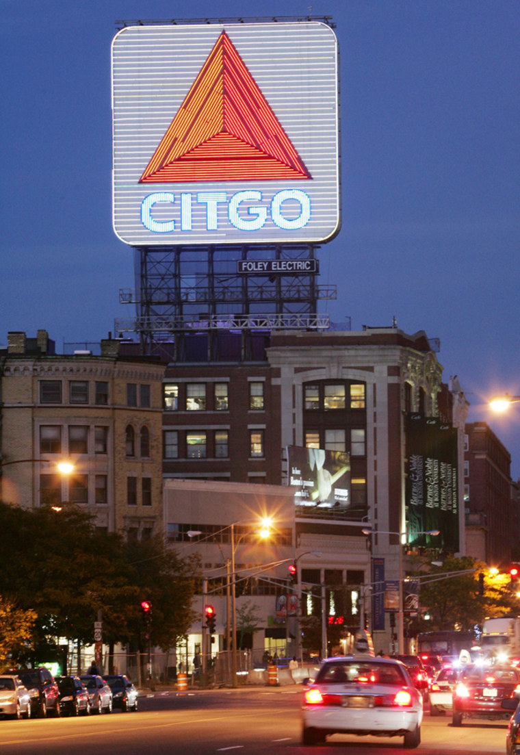 Venezuelan President Hugo Chavez' controversial remarks ha e inspired anti-Citgo proposals.A Boston politician wants to tear down this Citgo sign that's a prominent landmark on the city's skyline.