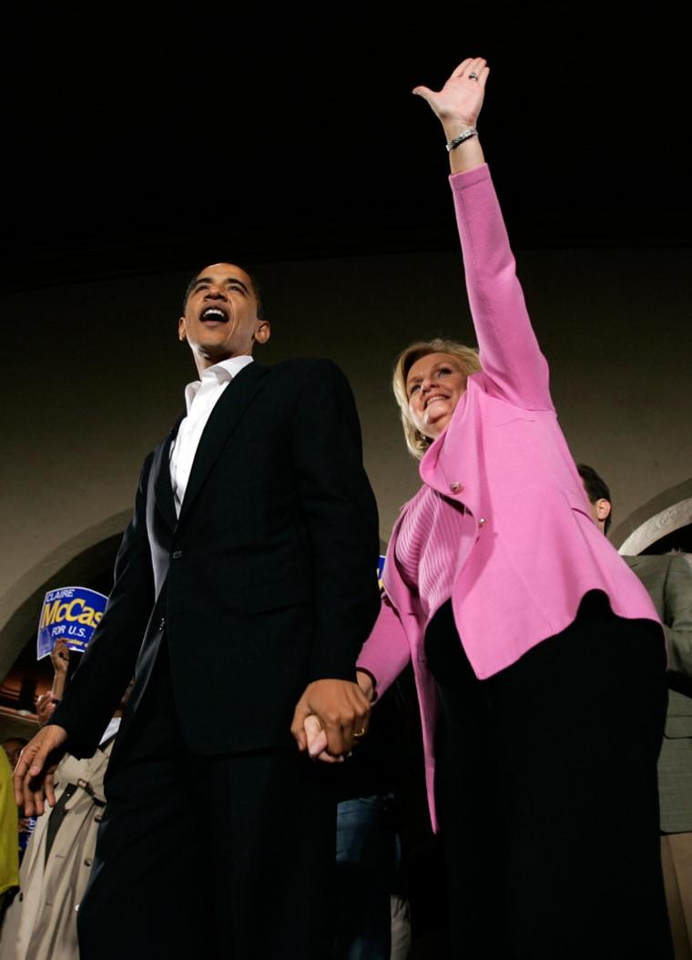 Claire McCaskill, Barack Obama