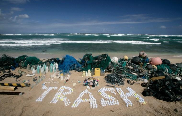 Trash found on Honolulu beach