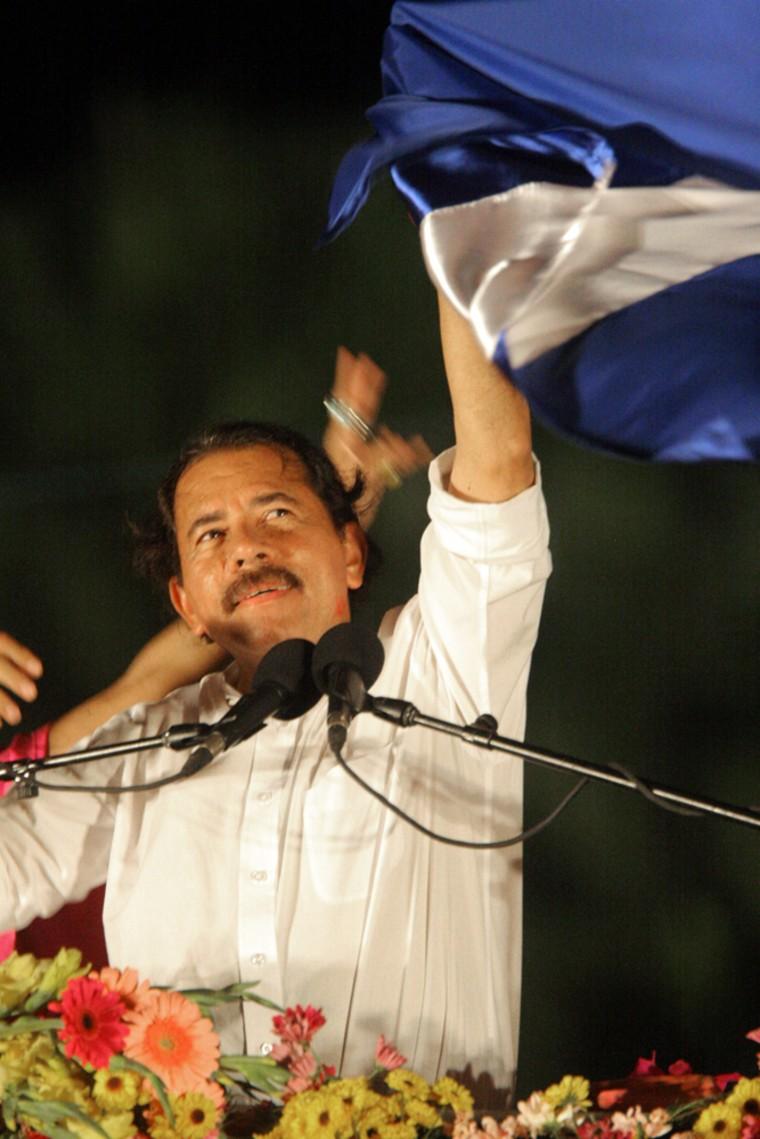 President-elect Daniel Ortega of the San