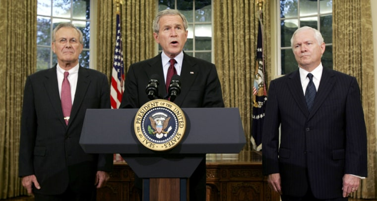 US President Bush announces his new Secretary of Defense in Washington