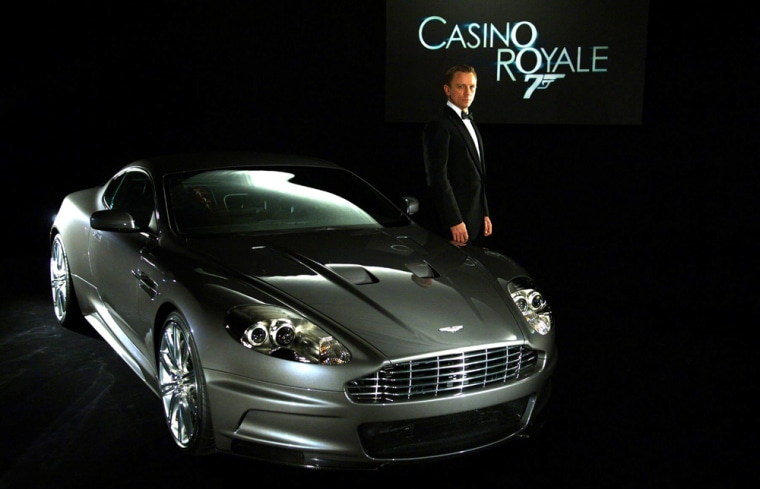 The 2008 Aston Martin DBS, which breaks a world record by doing seven consecutive cannon rolls in the new James Bond film Casino Royale, is only the latest of the British spy's car co-stars.