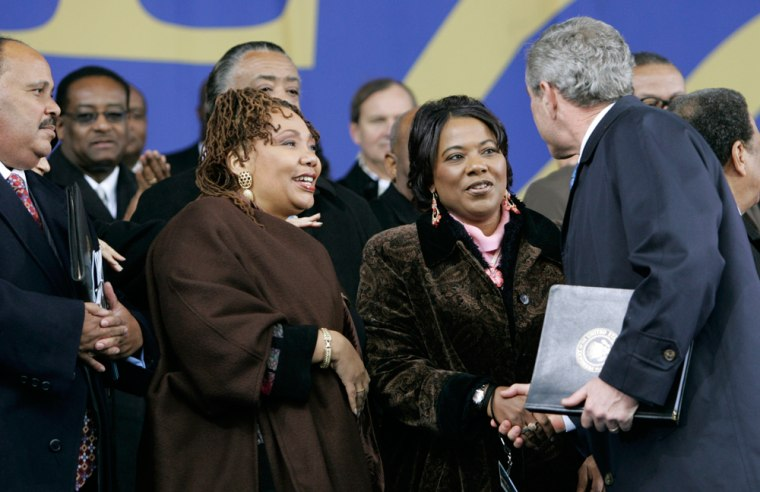 George W. Bush, Martin Luther King III, Bernice Albertine, Yolanda Denise King