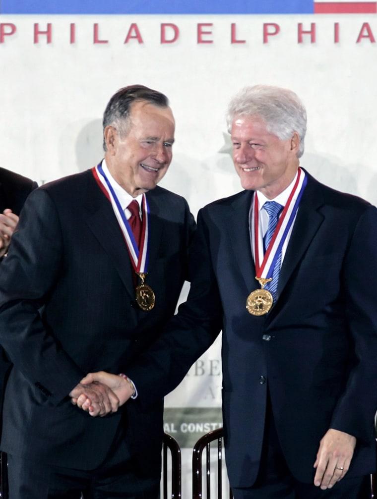 Elder Bush, Clinton Recognized For Disaster Relief Efforts