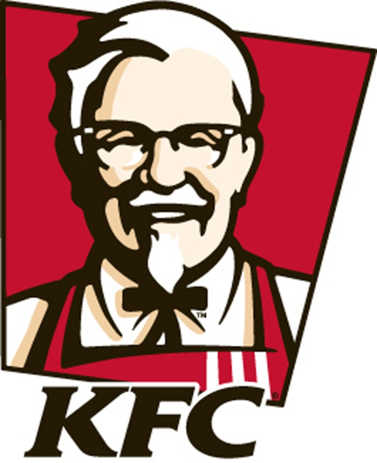 At least he got to keep the tie. The new KFC logo featuring Colonel Harland Sanders.