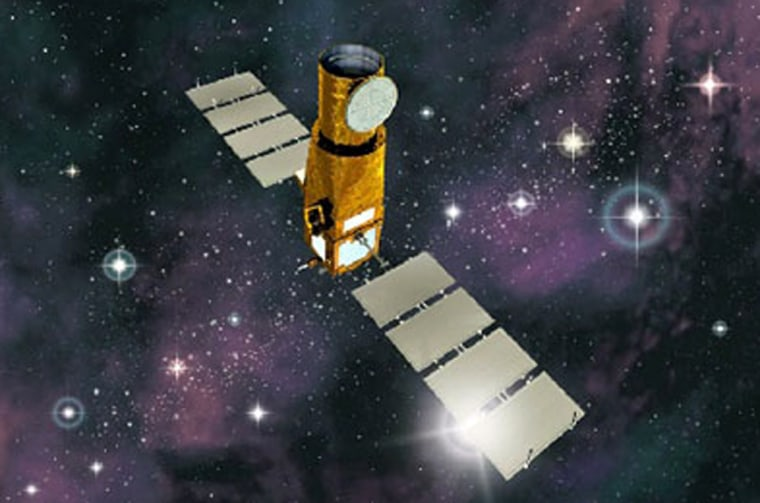 An artist's conception shows the COROT satellite.