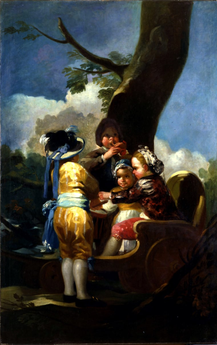 """Francisco de Goya's 1778 oil painting """"Children with a Cart"""" was at the Toledo Museum of Art and on its way to New York's Guggenheim Museum."""