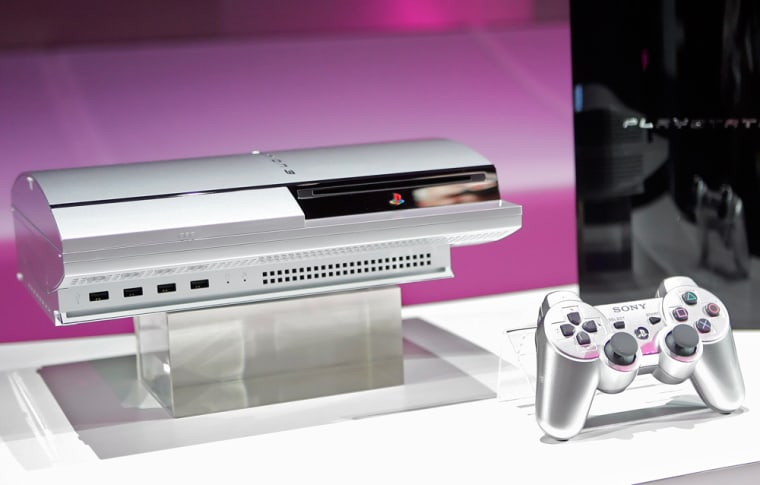 The Sony Playstation 3 console and its new controller is shown in this May 8, 2006, file photo.