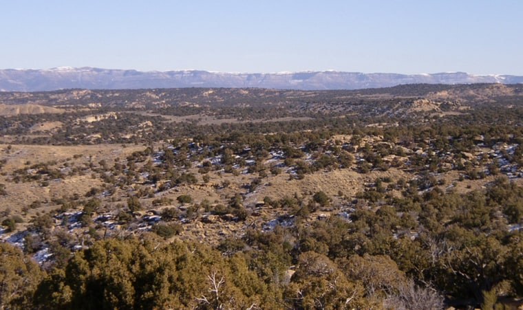 The White River Resource Area, which was among the federal lands opened Mondayto oil shaleprojects, includes this section, called Cathedral Bluffs.