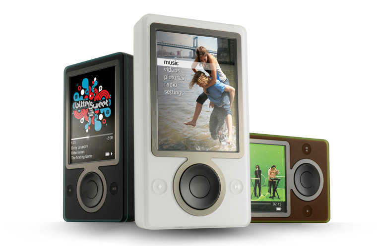 Thefirst Zune audio/video players come in three colors.