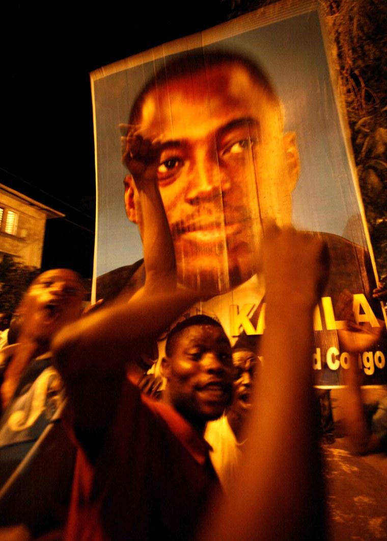 Congolese celebrate in the capital Kinshasa