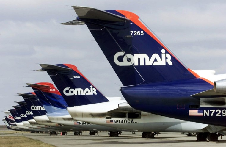 Comair planes line the tarmac outside the Comair terminal in Hebron, Ky. According to a federal report published in October, Comair achieved the dubious honor of having the nation's most frequently delayed flight.