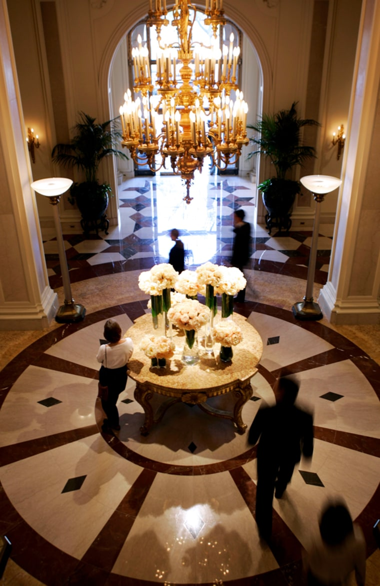 The lobby of the Beverly Wilshire - a Four Seasons Hotel - Monday, Nov. 6th, in Beverly Hills, Calif.