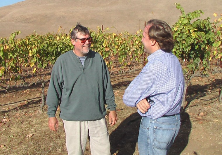 "Bob Lindquist of Qupé Wine Cellars talks with Edward Deitch about the ""Hillside Estate"" syrah grown for his wines at the Bien Nacido Vineyard."