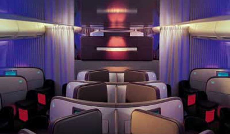 Virgin Atlantic planes feature onboard bars, and passengers get their choice of onboard massage or (polish-less) manicure and hand massage from the red-suited flight attendants.