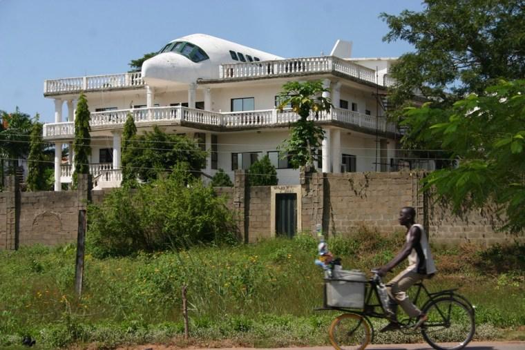 Abuja's airplane house, the home of Said and Liza Jammal.