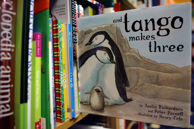 "The book ""And Tango Makes Three,"" based on a true story of two male penguins in New York City's Central Park Zoo that adopted a fertilized egg and raised the chick as their own, has created a controversy in Shiloh, Ill."