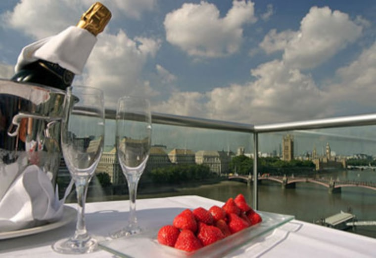 For roughly $3,000, the Plaza on the River will provide you and a loved one with a very nice suite, a private chef-prepared dinner in said suite, the keys to an Aston Martin DB7 Coupe, and a tuxedo fitting from a Savile Row tailor (you'll need it for the casino that evening).